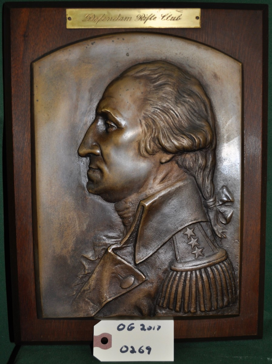 Plaque of George Washington (Defendam Rifle Club)