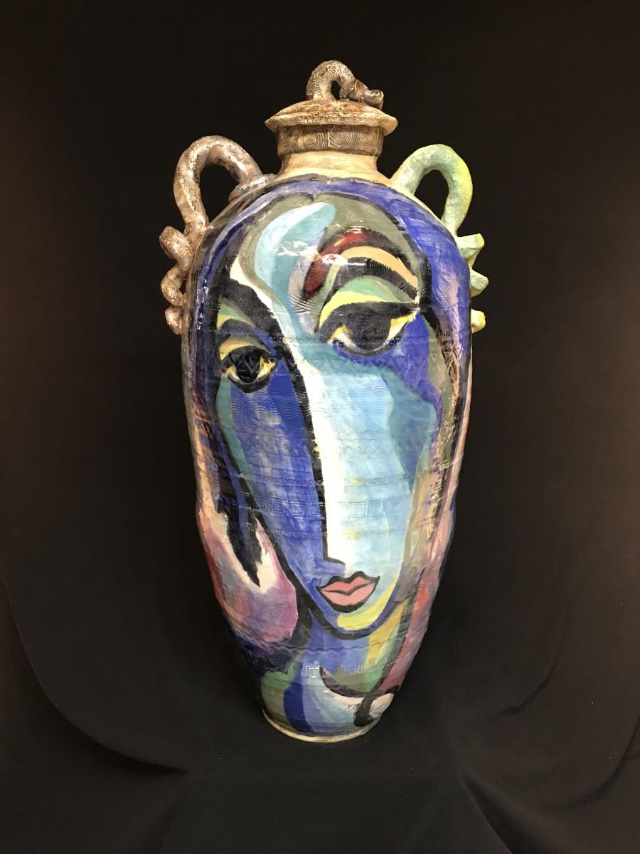 Blue Madonna by Mattie Leeds