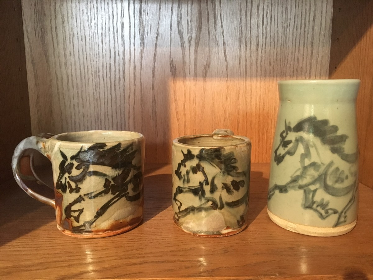 Horse Mugs by Mattie Leeds