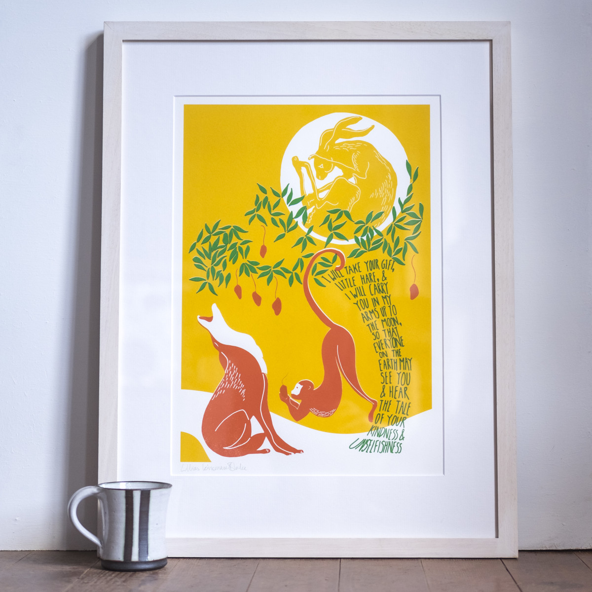 The Hare in the Moon (Framed)