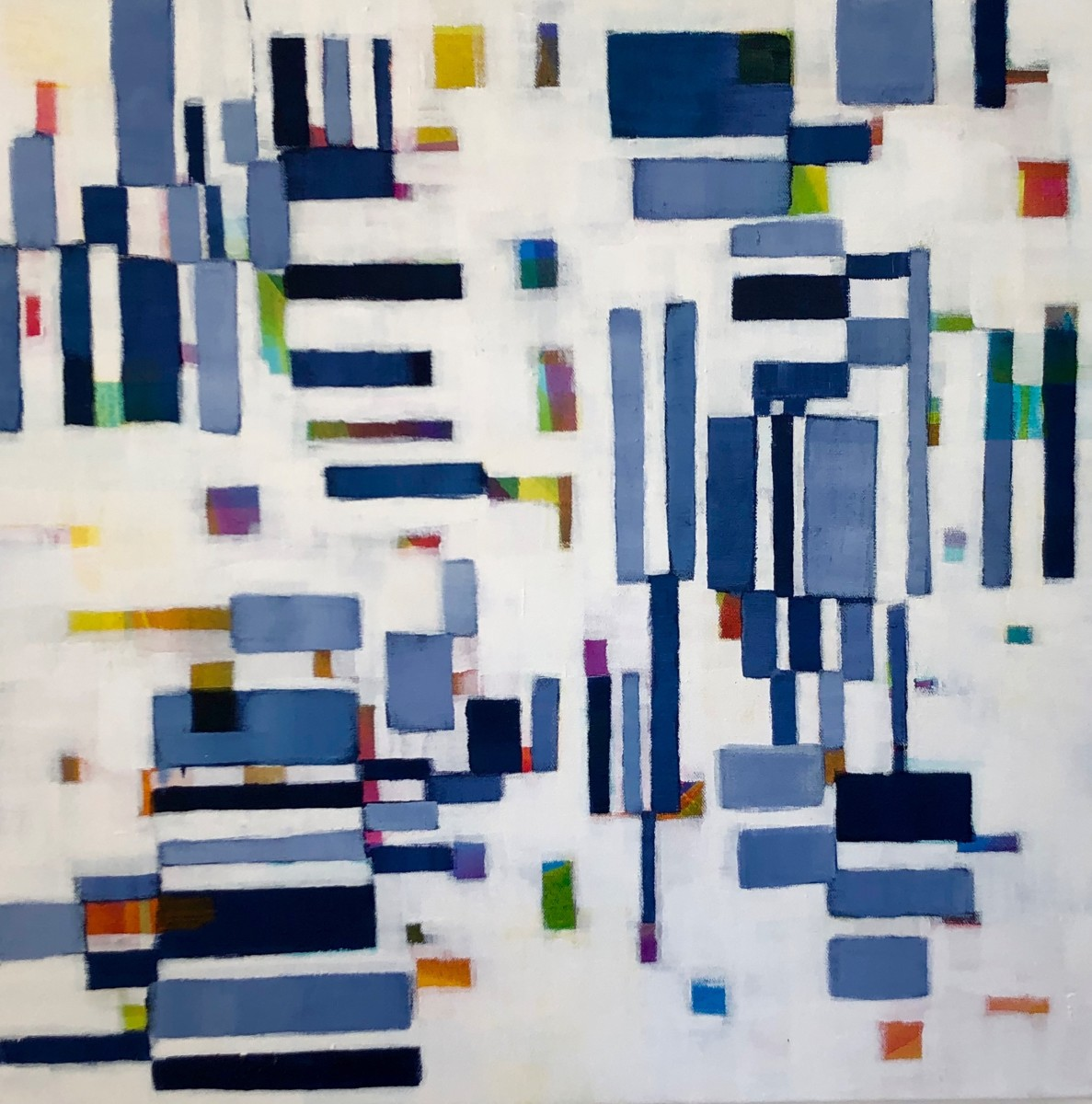 Puzzled-Indigo  Small by Beth Munro