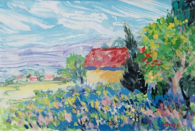 Maison sur la Ferme I by Margaret Bragg