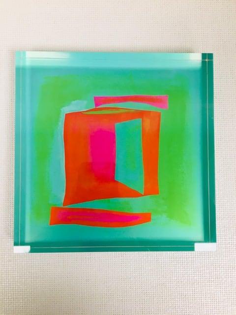 Color Awakenings IX (Lucite block) by Katherine Evans