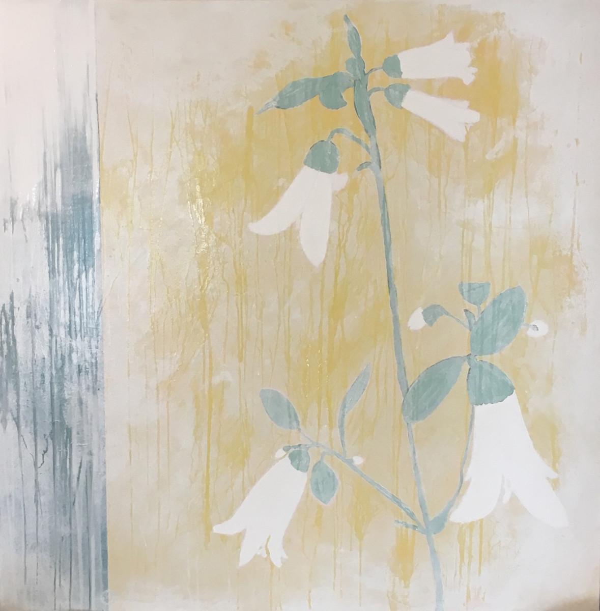 Looking Through Spring Rain with Ivory Bells by Karen Tusinski