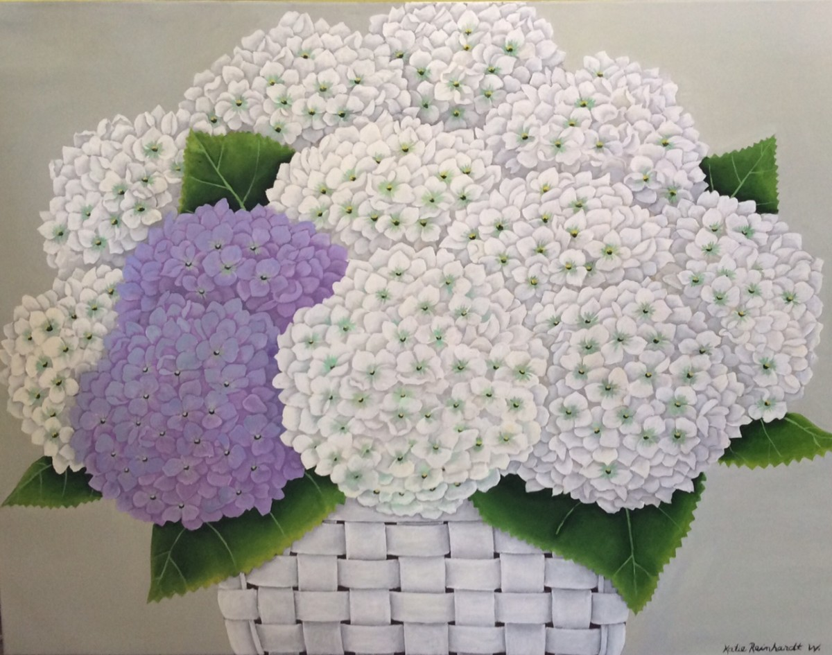 White and Lavender Hydrangeas