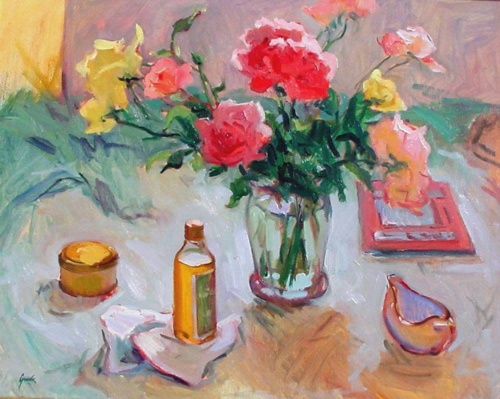 Roses and Olive Oil by Susan F Greaves