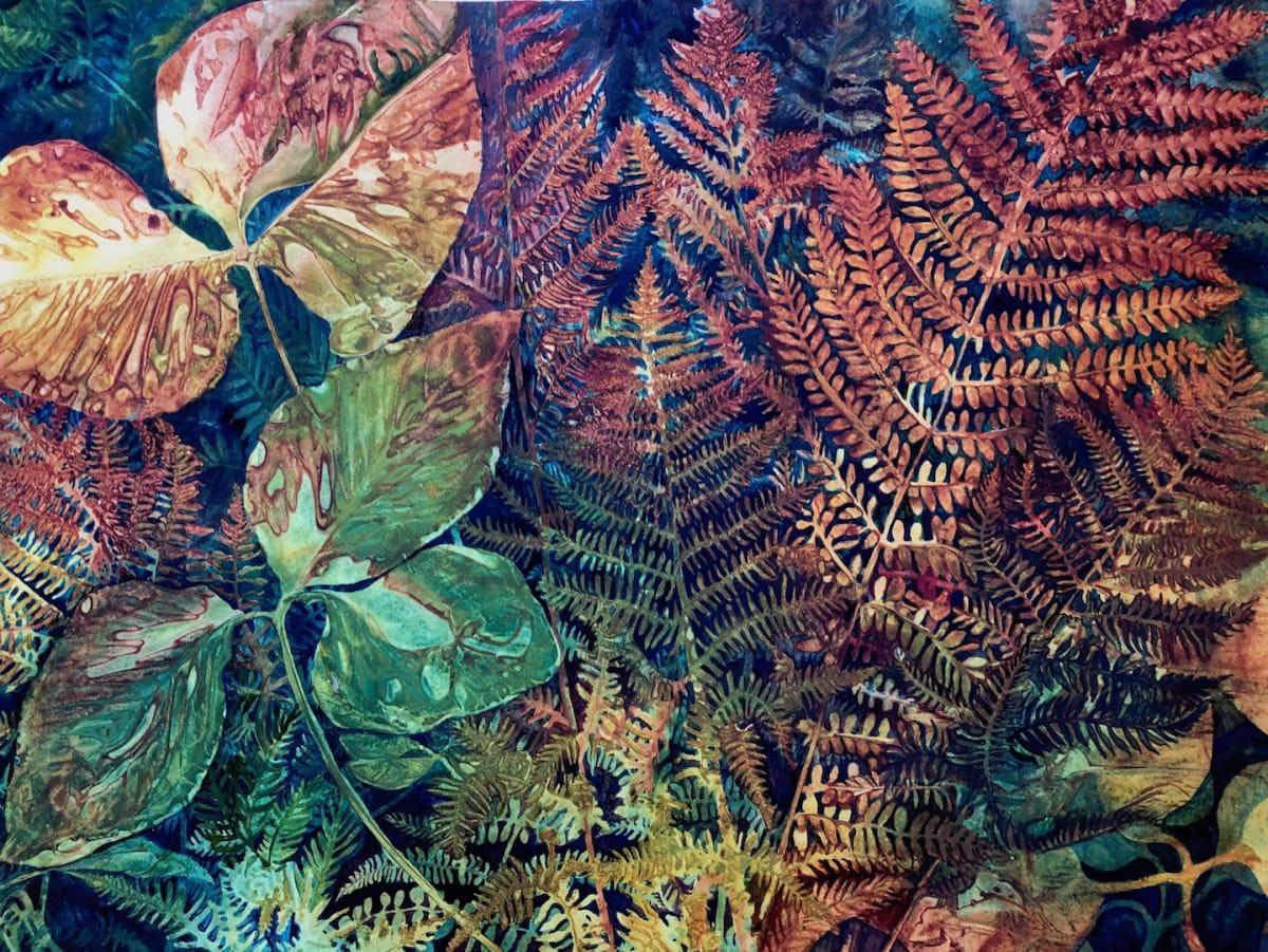 Autumn Ferns an original watercolor by Helen R Klebesadel