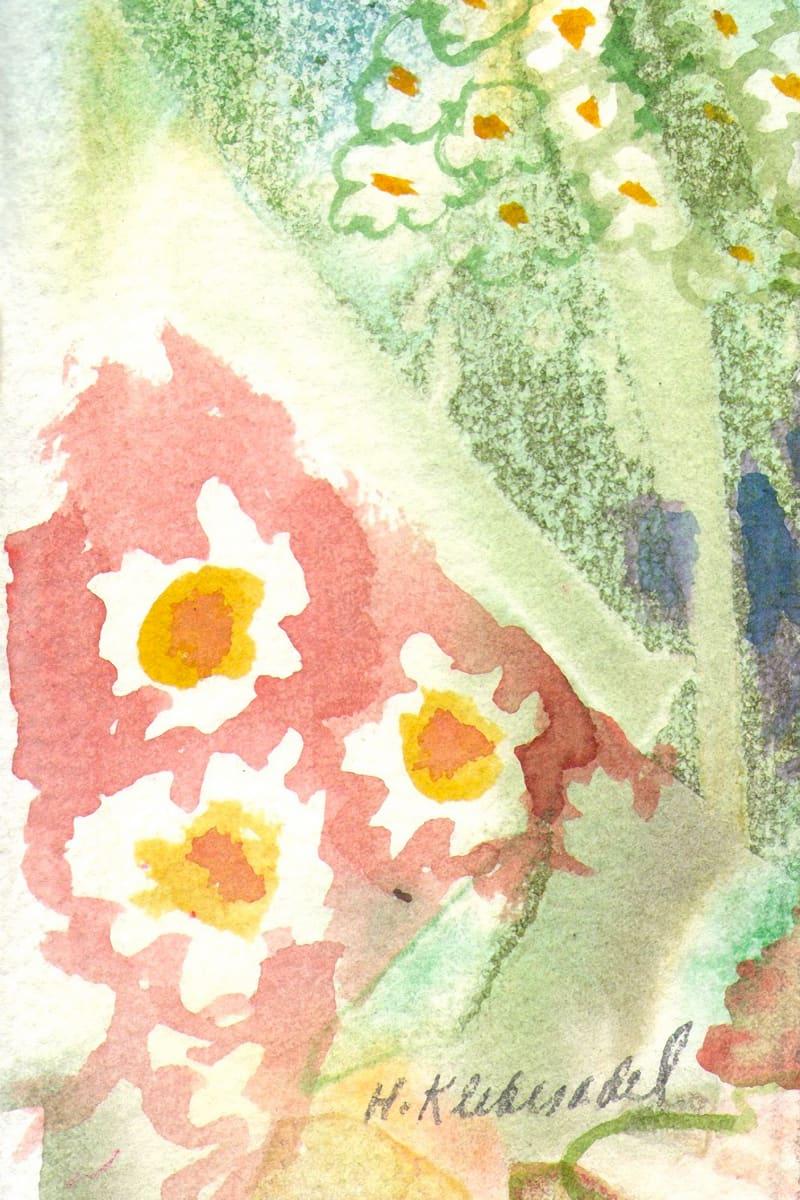 Wild Flowers ACEO original watercolor by Helen R Klebesadel