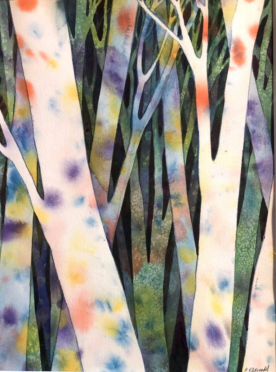 Birch Wood Study I by Helen R Klebesadel