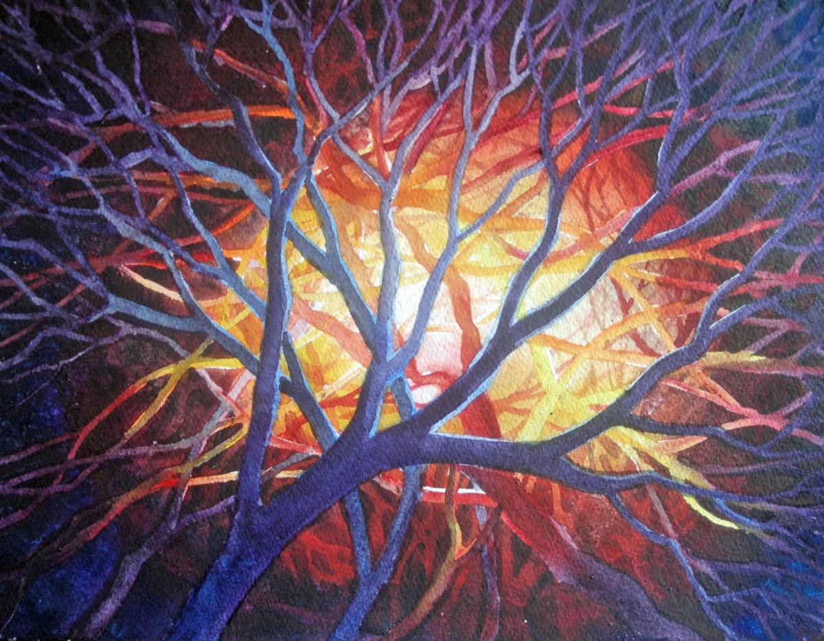 Bonfire Study I by Helen R Klebesadel