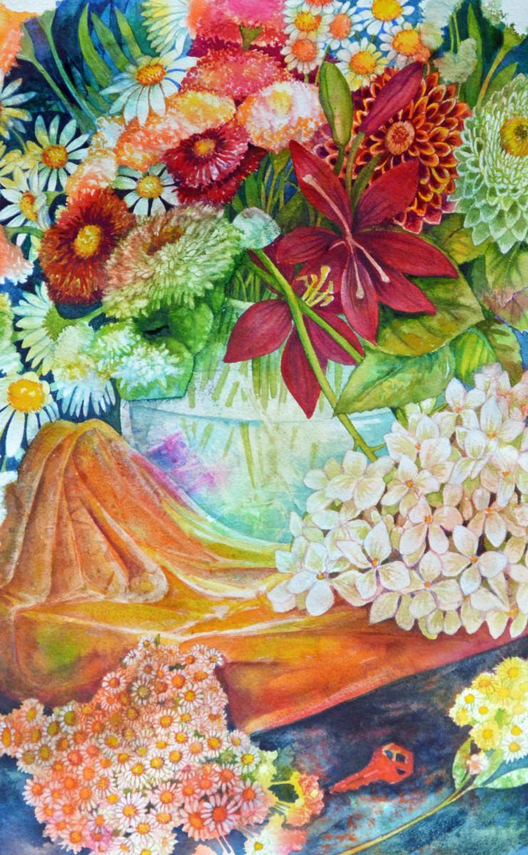 Summer Bouquet Study  I by Helen R Klebesadel
