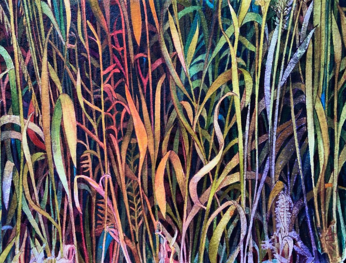 Fall Prairie  Grasses VI an original watercolor on paper by Helen R Klebesadel