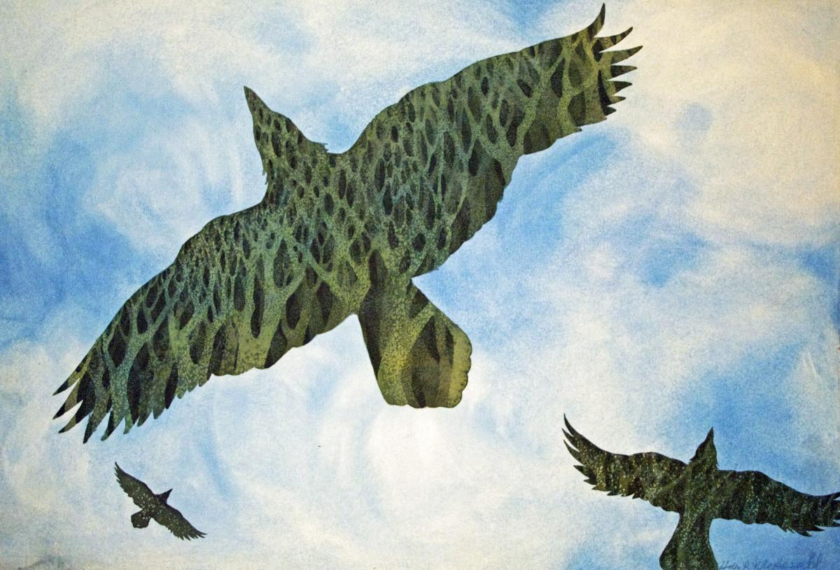 Nature Arising I an original watercolor by Helen R Klebesadel