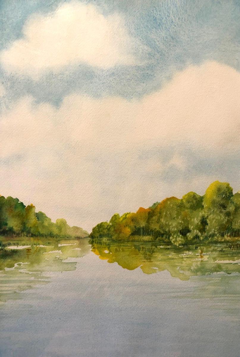 Wisconsin River by Helen R Klebesadel