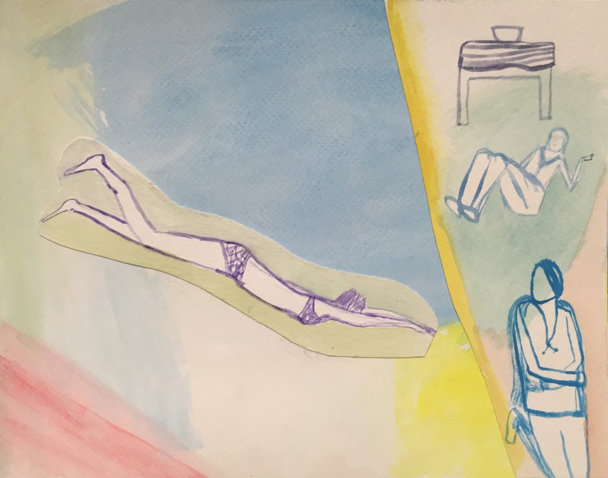 Dreaming When Possible (Swimmer) by Caley O'Dwyer
