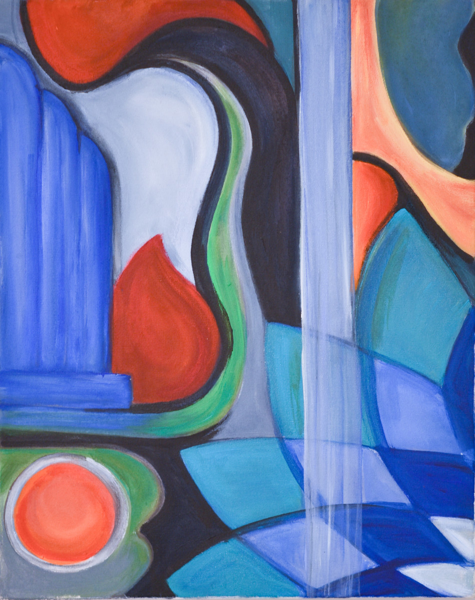 Abstract forms 2 by Yolanda Velasquez