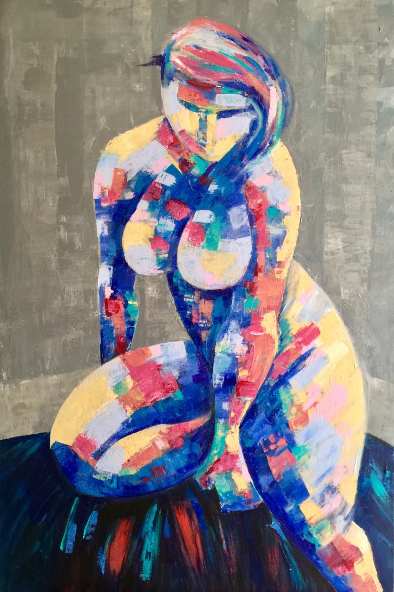 Nude in Gray by Yolanda Velasquez