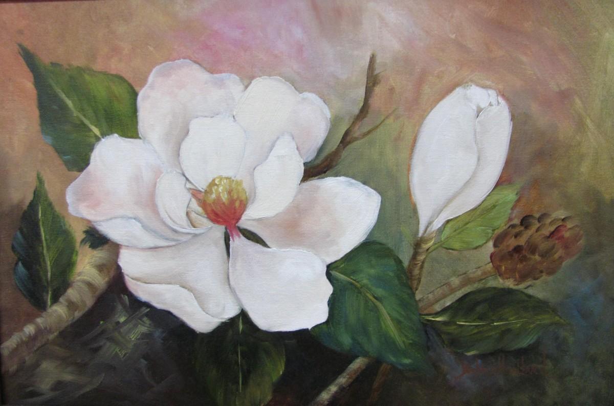 Magnolias in Bloom,oils flowers,Barbara | Artwork Archive