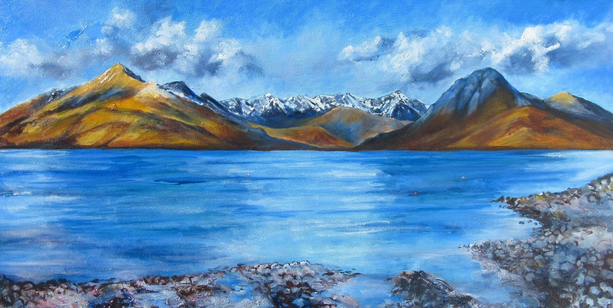 The Cuillin from Elgol by Julie Arbuckle