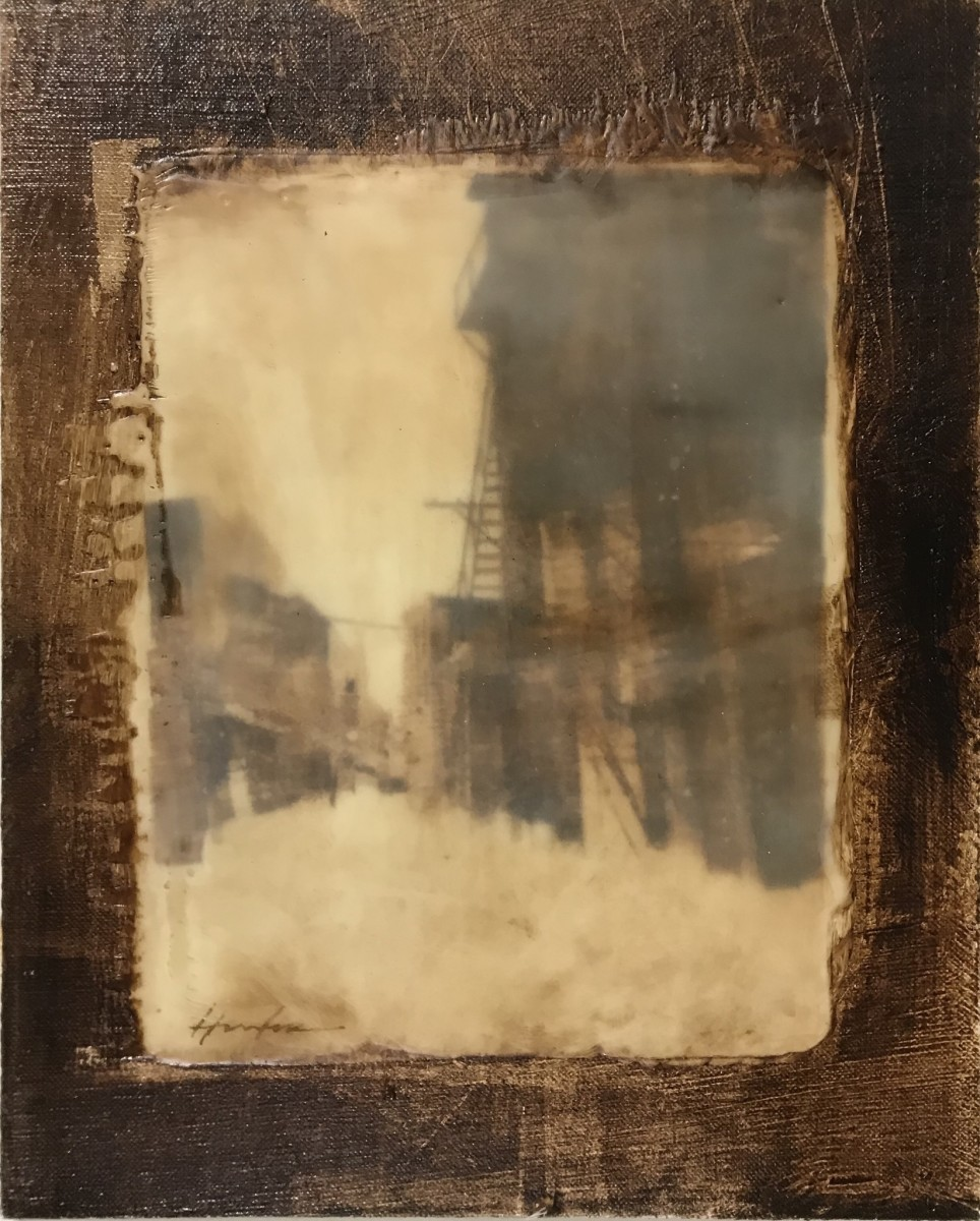 CANAL STREET ENCAUSTIC by Charlie Hunter