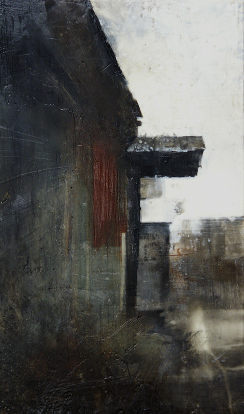 ABANDONED PAPER MILL ENCAUSTIC by Charlie Hunter
