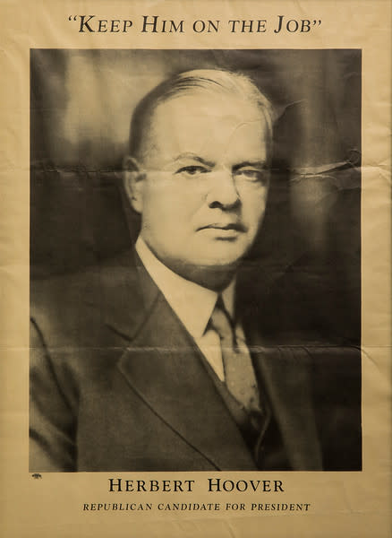 Untitled (Keep Him on the Job--Herbert Hoover) by Artist Unknown