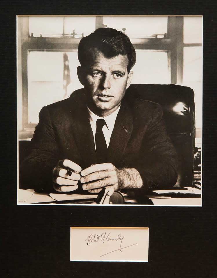 Untitled (Autograph and Photograph of Robert Kennedy) by Artist Unknown