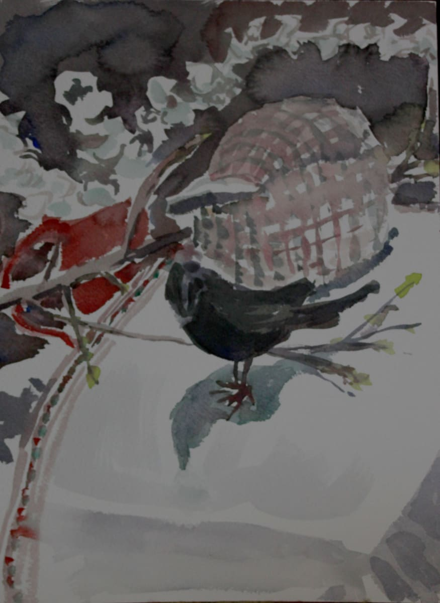 Black Bird and a Shell by Lesley A. Powell