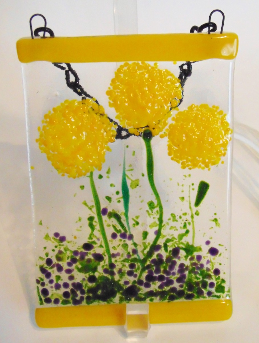 Garden hanger yellow pom flowers by kathy kollenburn artwork archive garden hanger yellow pom flowers mightylinksfo