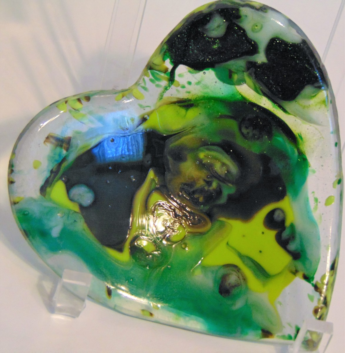 Heart Dish-Green