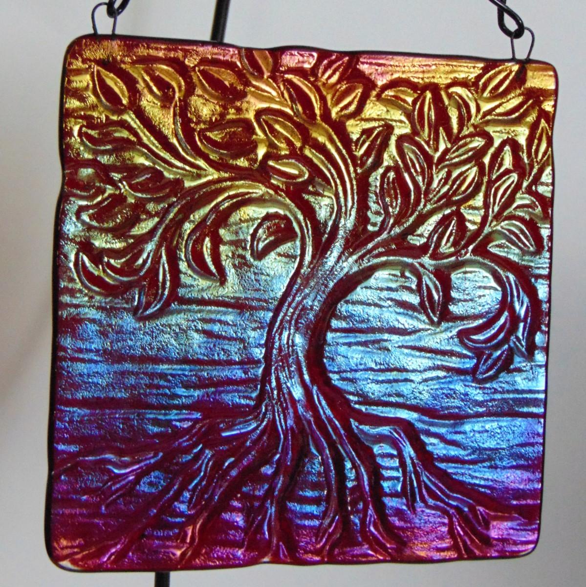 Tree of Life Hanger, Red Irid