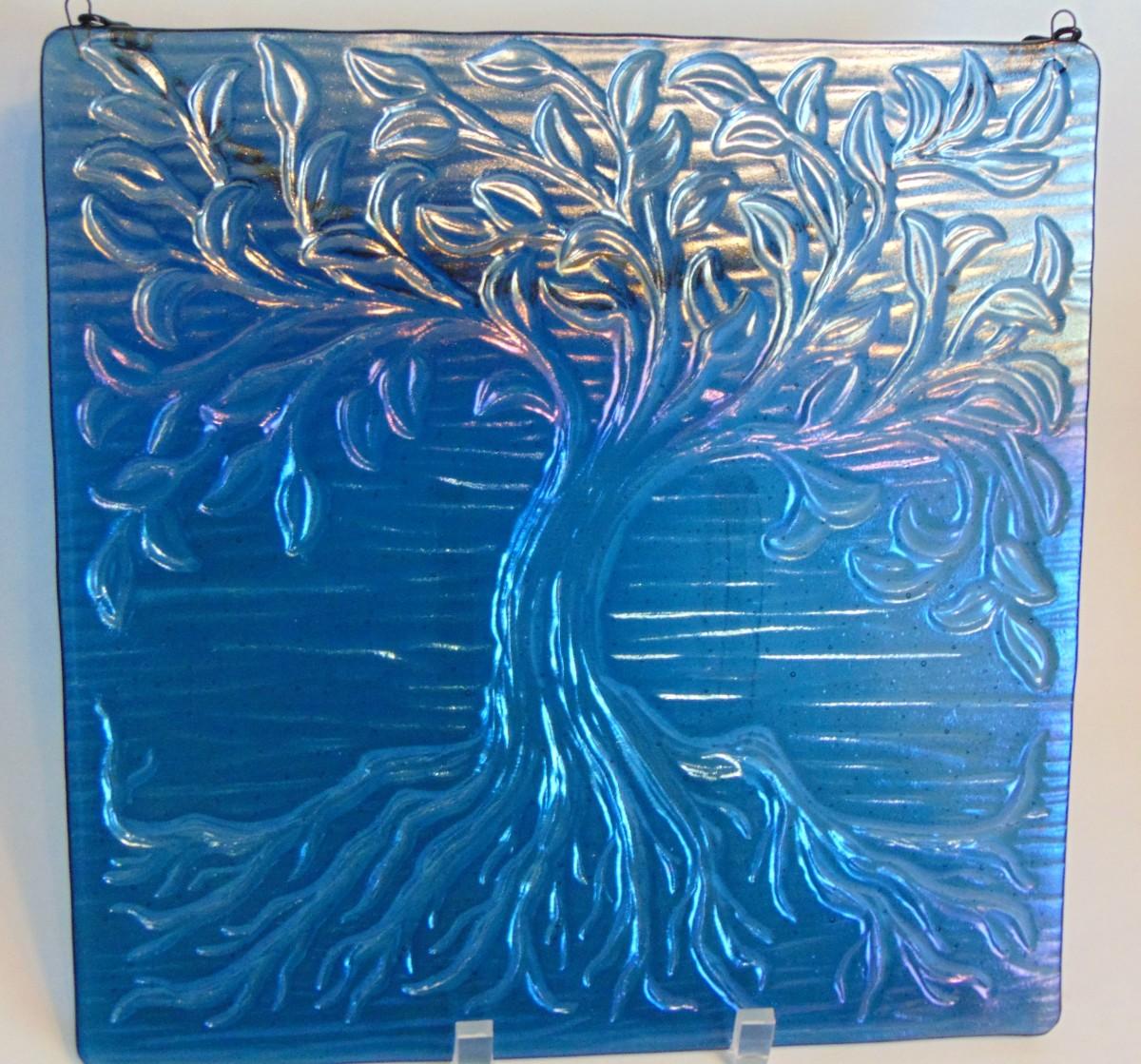 Garden Hanger-Tree of Life-Steel Blue Irid