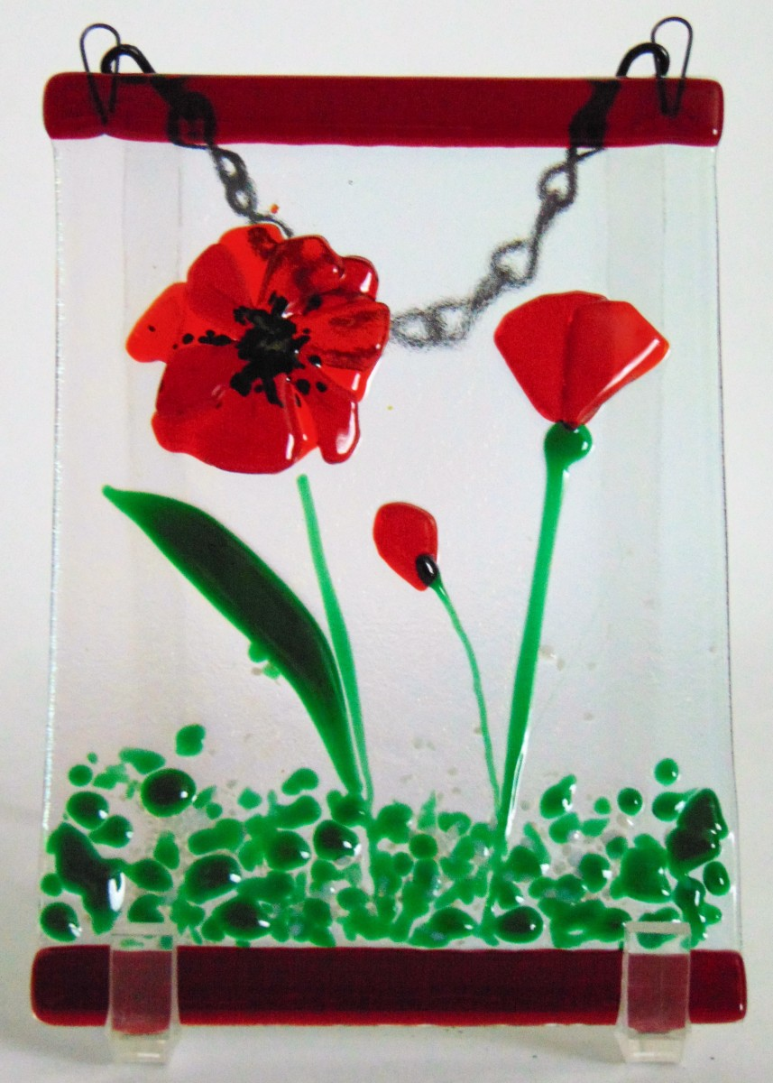 Garden Hanger-Red Poppies by Kathy Kollenburn