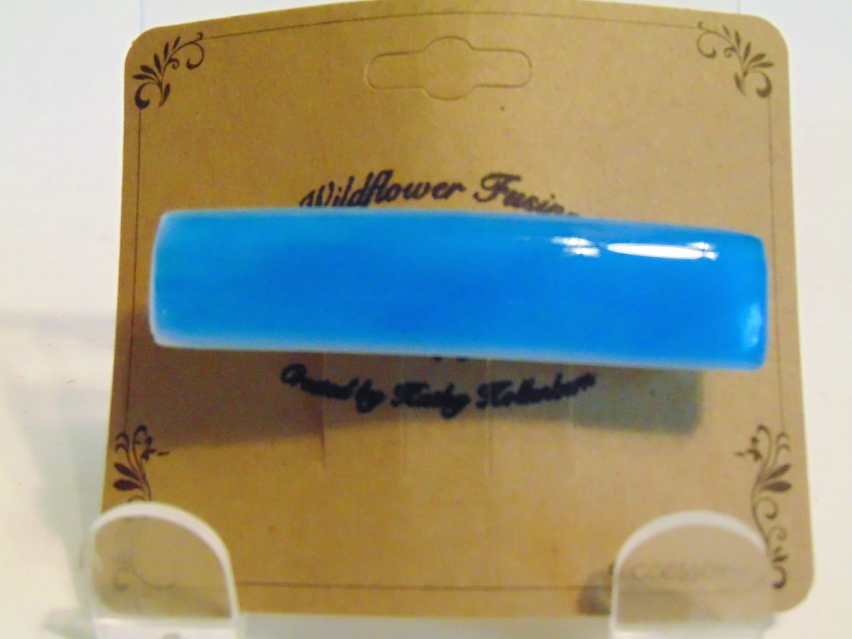 Barrette-Small-Turquoise Blue on white