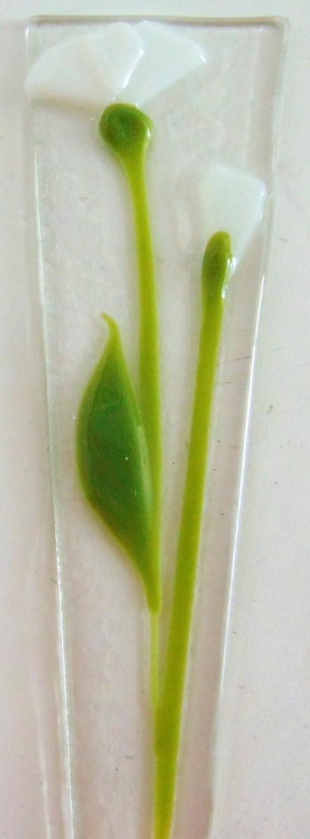 Plant Stake-White Poppies