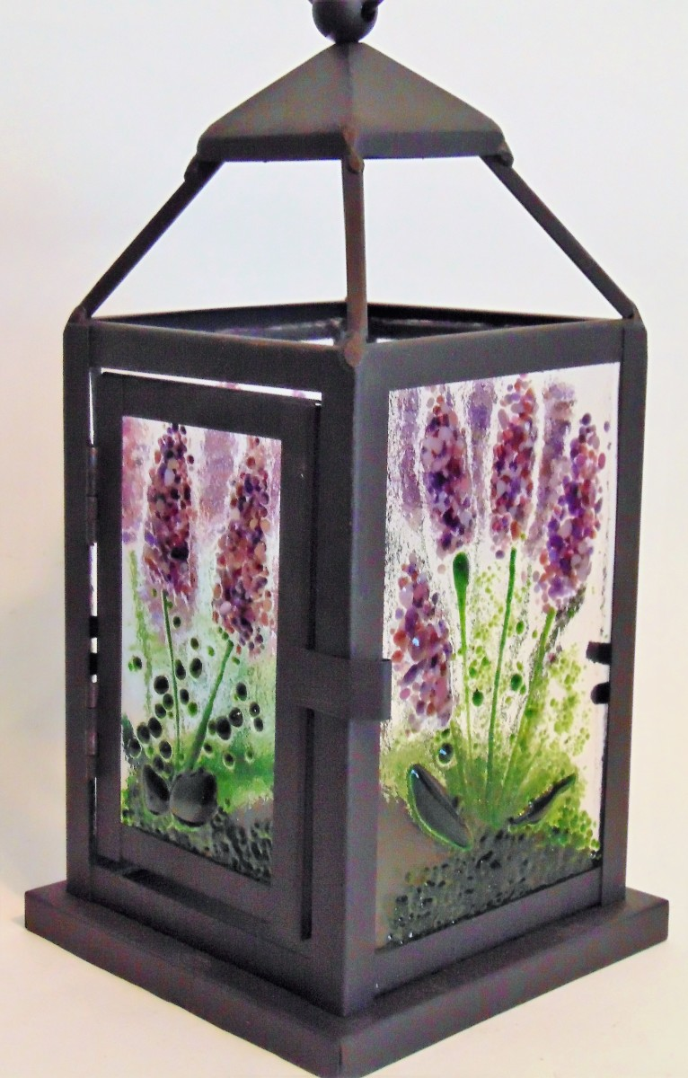 Lantern with Lavender Panels