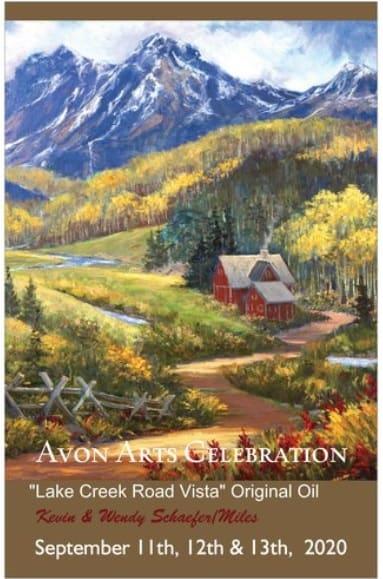 Avon Arts Celebration Poster 2020 by Kevin D. Miles & Wendy Sue Schaefer Miles