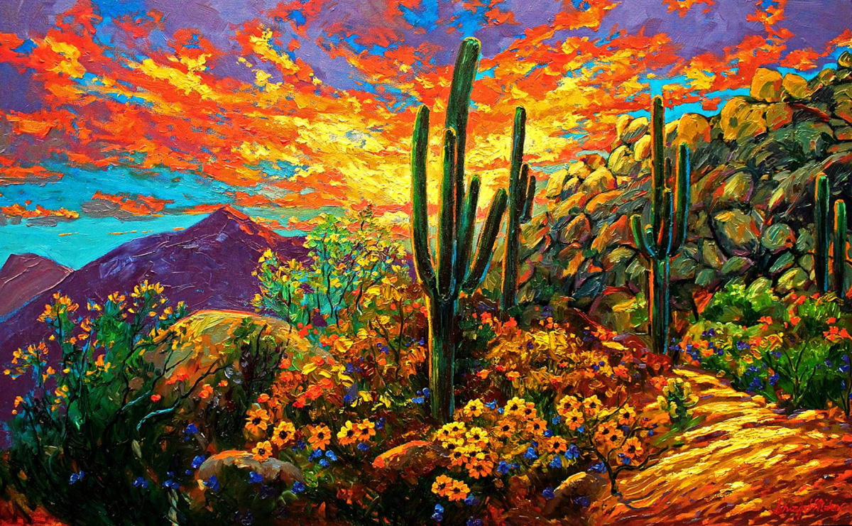 Desert Sunset by Kevin D. Miles & Wendy Sue Schaefer Miles