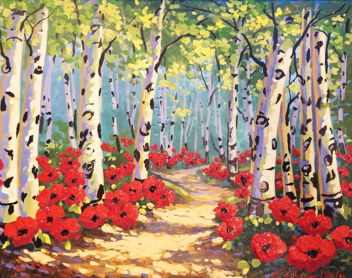 Summer Poppy Trail by Kevin D. Miles & Wendy Sue Schaefer Miles