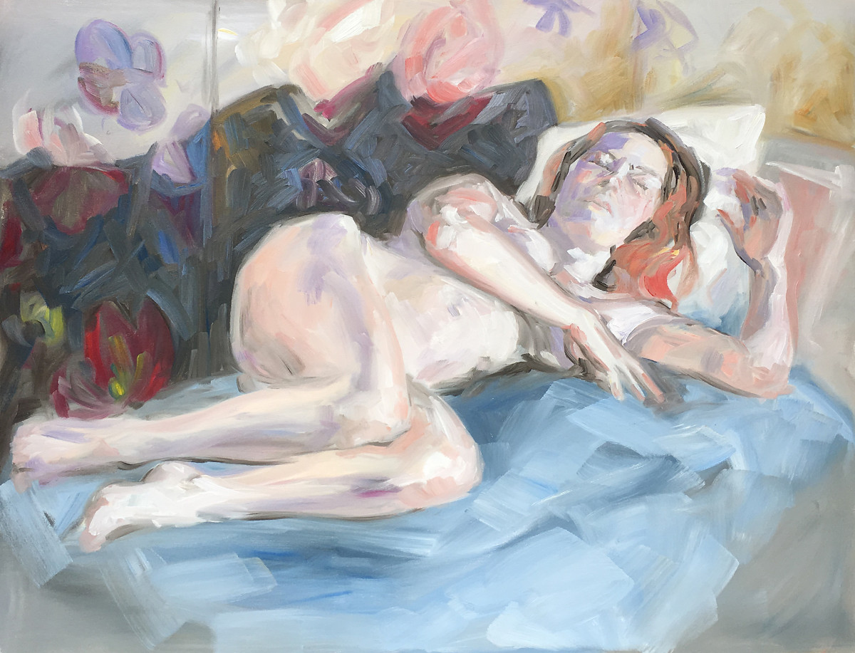 Nude study in Cadell St studio by Yvonne East