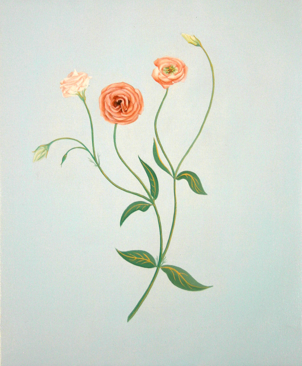 Contrapposto Lisianthus 1 by Yvonne East