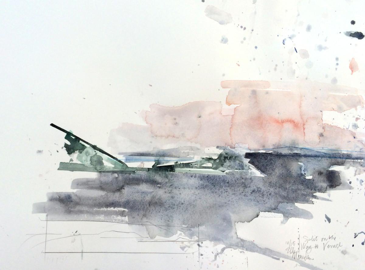 """""""Split"""" on the way to Venice by Ellen Mandelbaum"""