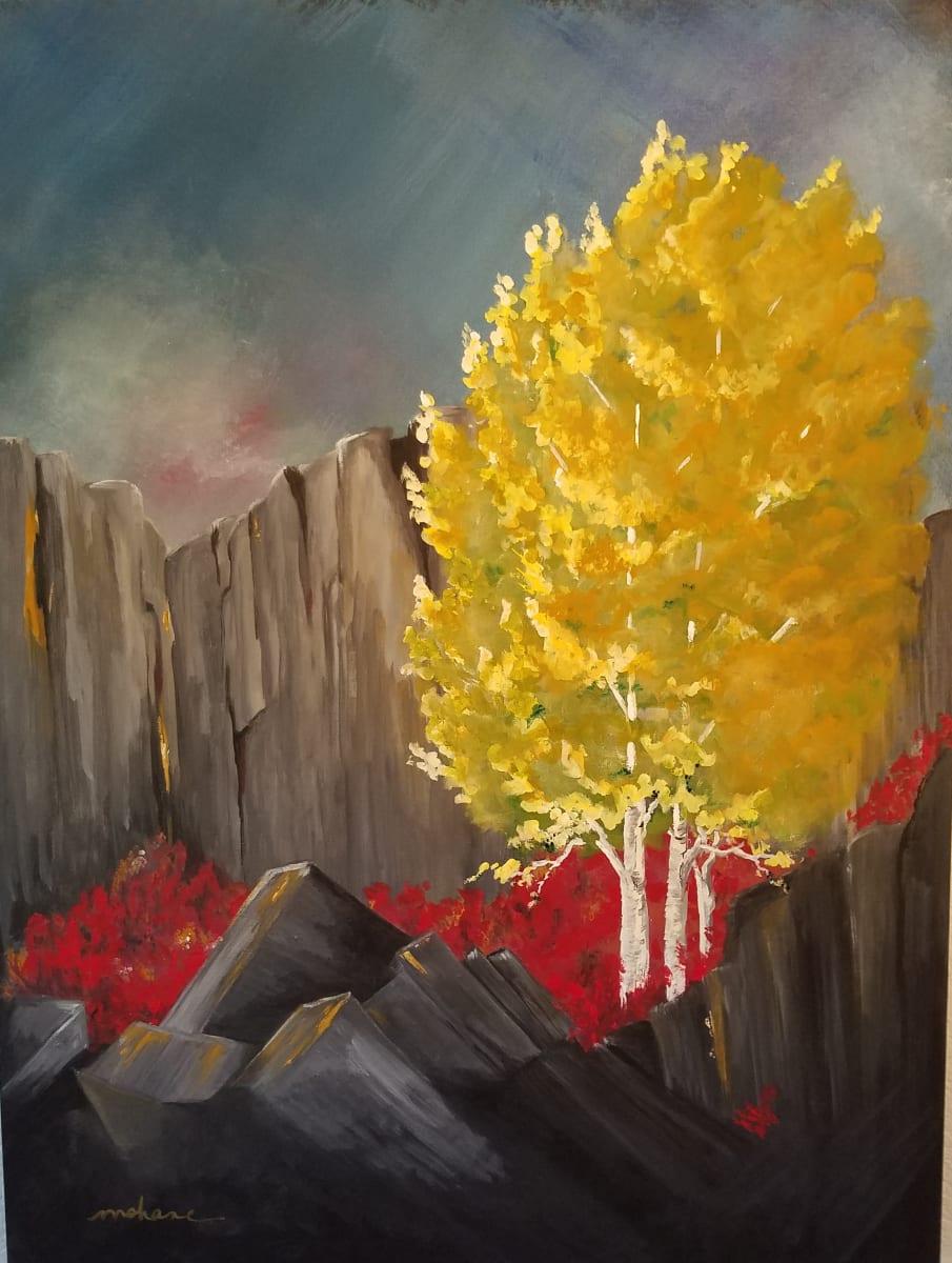 Red Gold Cliffs by M Shane
