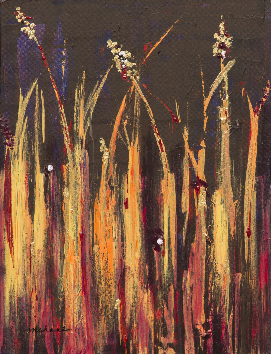 Flaming Reeds by M Shane