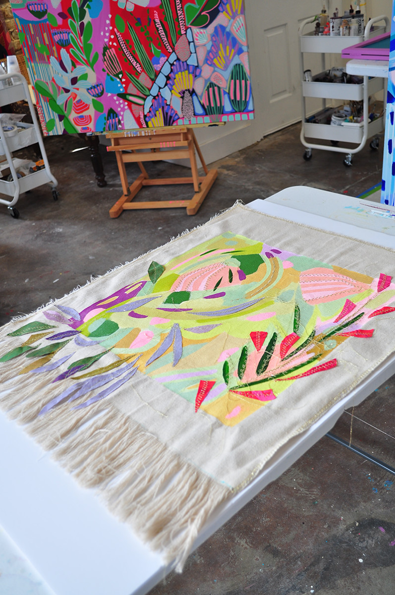 Garden Map-Tapestry 2 by Marianne Angeli Rodriguez