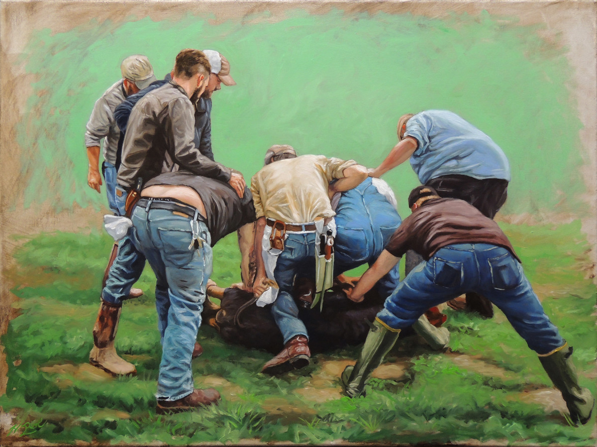 Saigner le cochon by Herb Roe