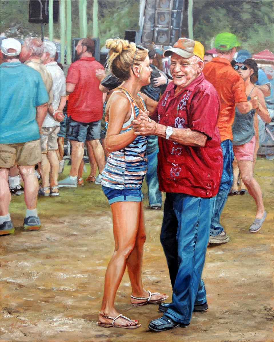 Vieux nonc peut danser bien! by Herb Roe