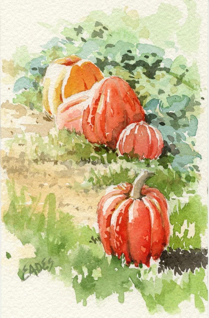 Autumn Harvest WC by Linda Eades Blackburn