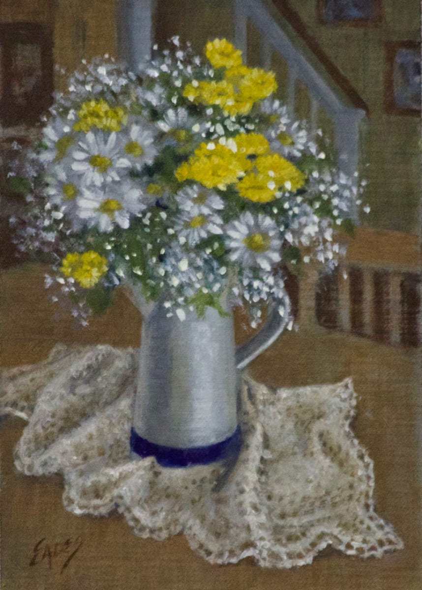 Daisies on the Kitchen Table by Linda Eades Blackburn