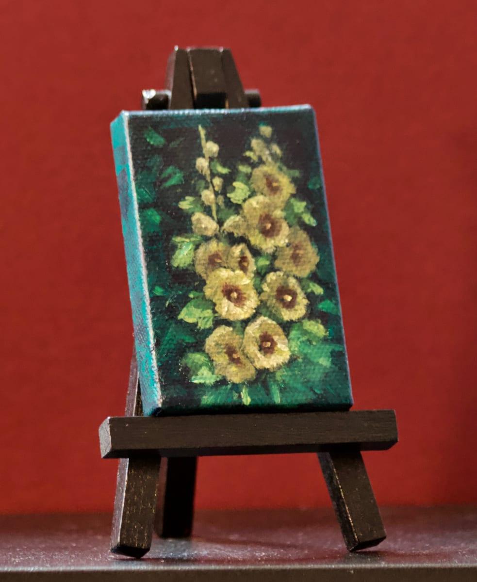 Hollyhocks Mini by Linda Eades Blackburn